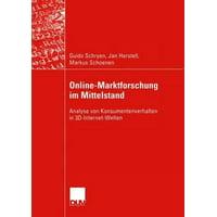 Online-Marktforschung Im Mittelstand : Analyse Von Konsumentenverhalten in 3d-Internet-Welten