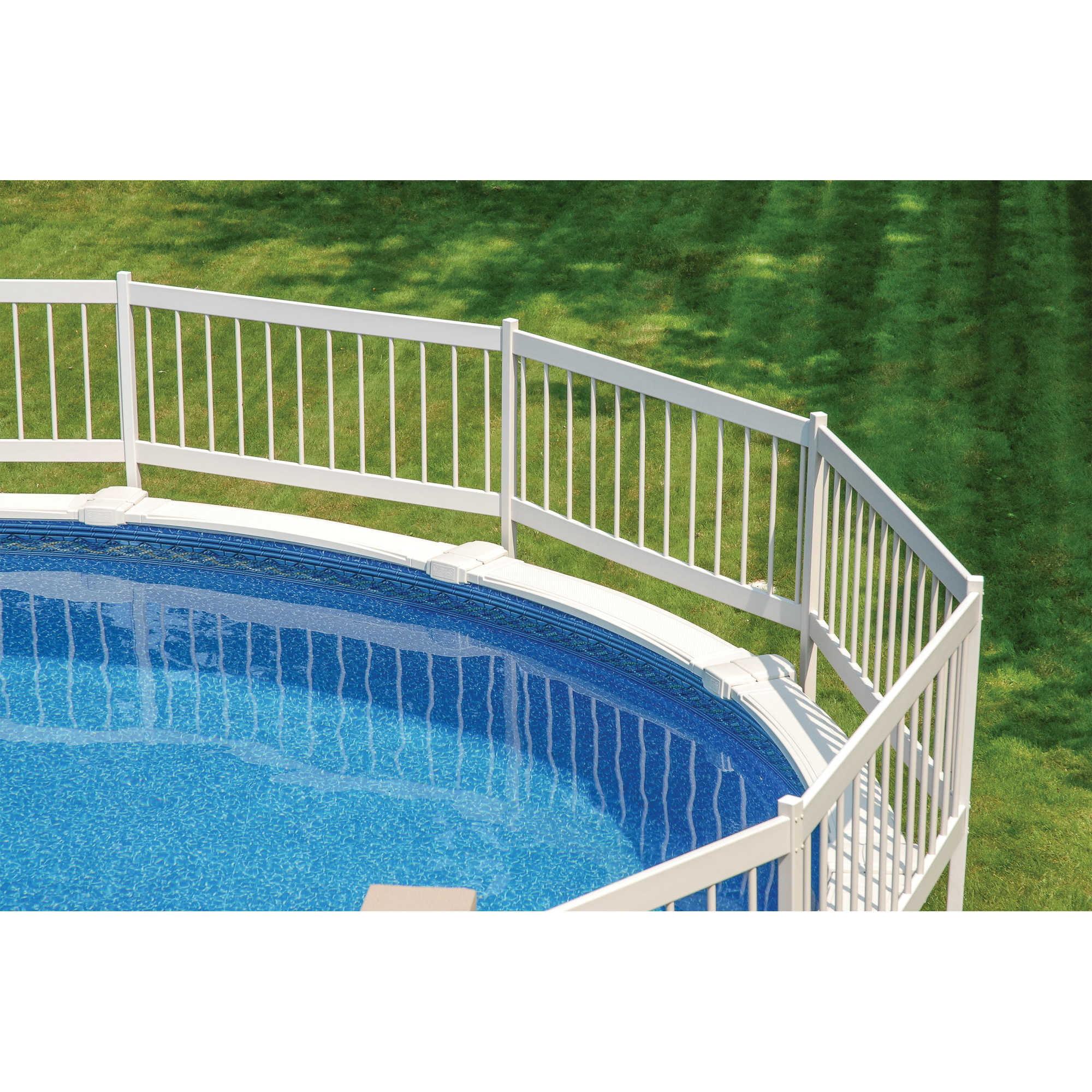 Gli Above Ground Pool Fence Kit White