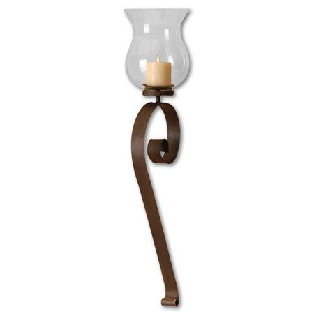 Scroll Wall Sconces Candles : Uttermost Scroll Hurricane Candle Wall Sconce - Walmart.com
