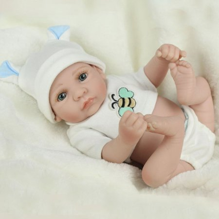 28cm Lovely Kids Reborn Baby Doll Washable Soft Vinyl Lifelike Newborn Doll Girl Boy Best Birthday Gift For Boys Girls - image 3 de 8