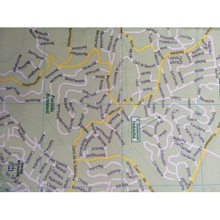 Laminated Poster Navigation Map Directions Geography Spain Streets Poster Print 24 X 36