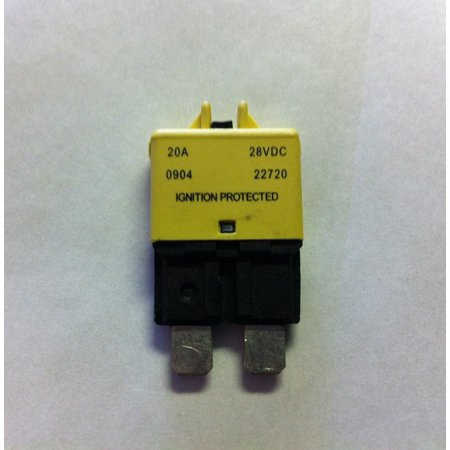 Buss 20 Amp Low Profile ATC/ATO Manual Reset Circuit Breaker