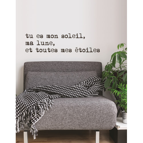 ADZif Mia & Co Tu Es Mon Soleil Wall Decal