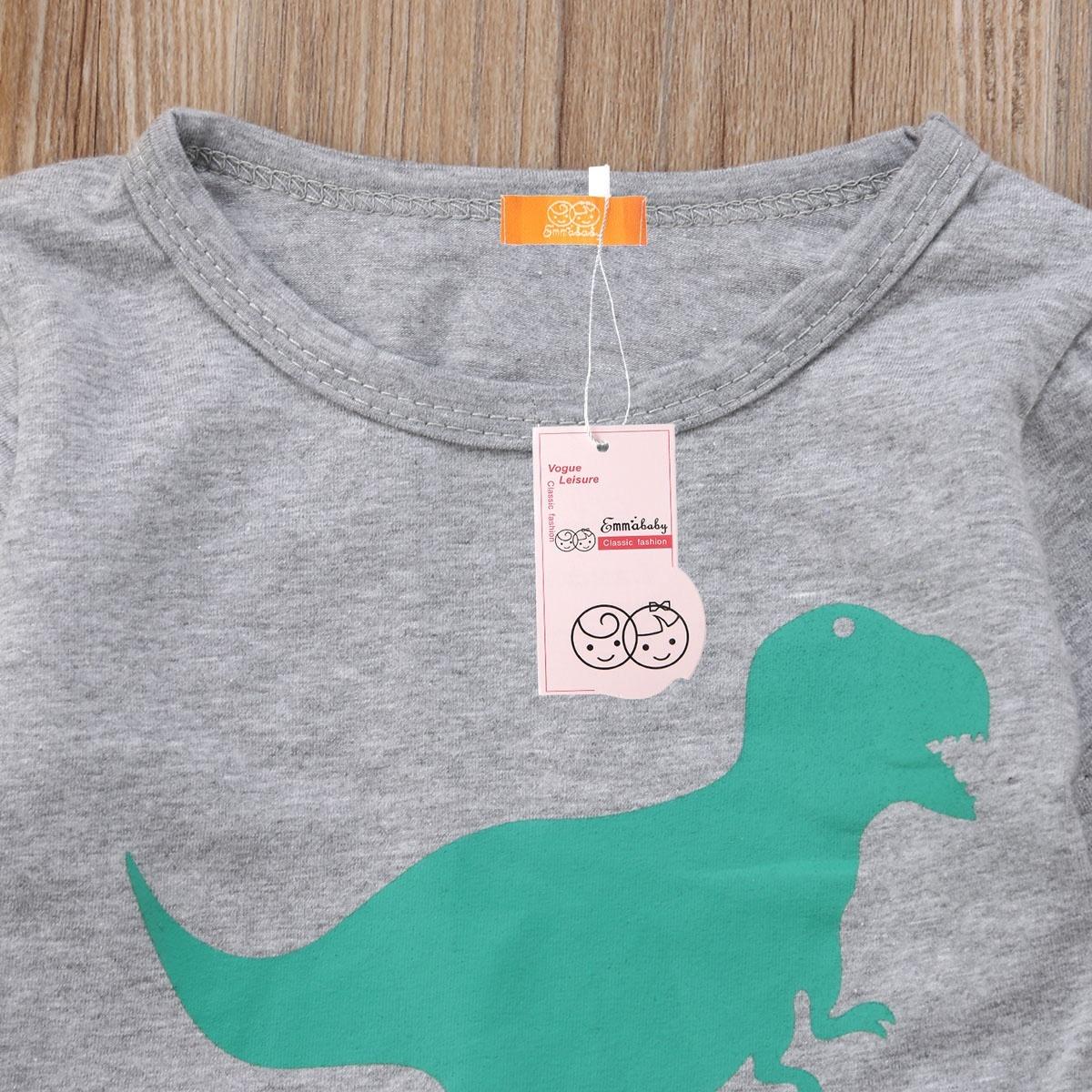 2PCS Newborn Boys and Girls Clothing T-Shirt Tops Dinosaur Pants Outfits Set
