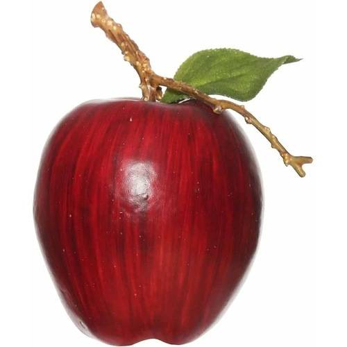 Vickerman 80mm Artificial Red Apple (6 Per Pack)