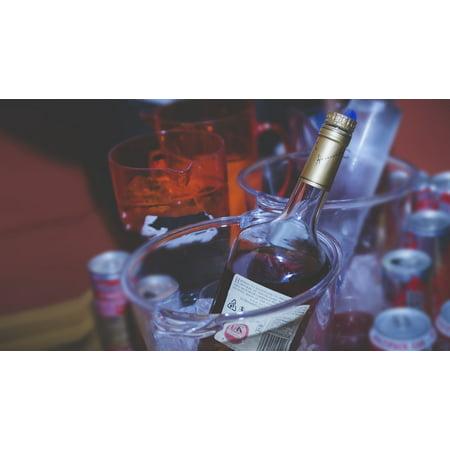 LAMINATED POSTER Brandy Hennessy Bottle Service Bottles Spirit Bar Poster Print 24 x 36 - Personalized Hennessy Bottle