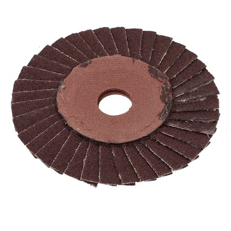 100mmx16mmx3mm 36 Grit Abrasive Flap Sanding Grinding Disc Polishing