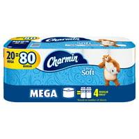 Charmin Ultra Soft Toilet Paper, 20 Mega Rolls = 80 Regular Rolls