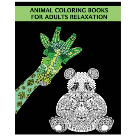 Animal Coloring Books for Adults Relaxation: Discover 50 Unique Stress Relieving Animal Designs (Paperback)