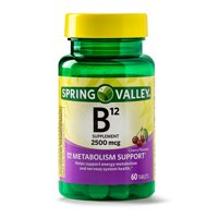 Spring Valley Vitamin B12 Tablets, 2500mcg, 60 Count