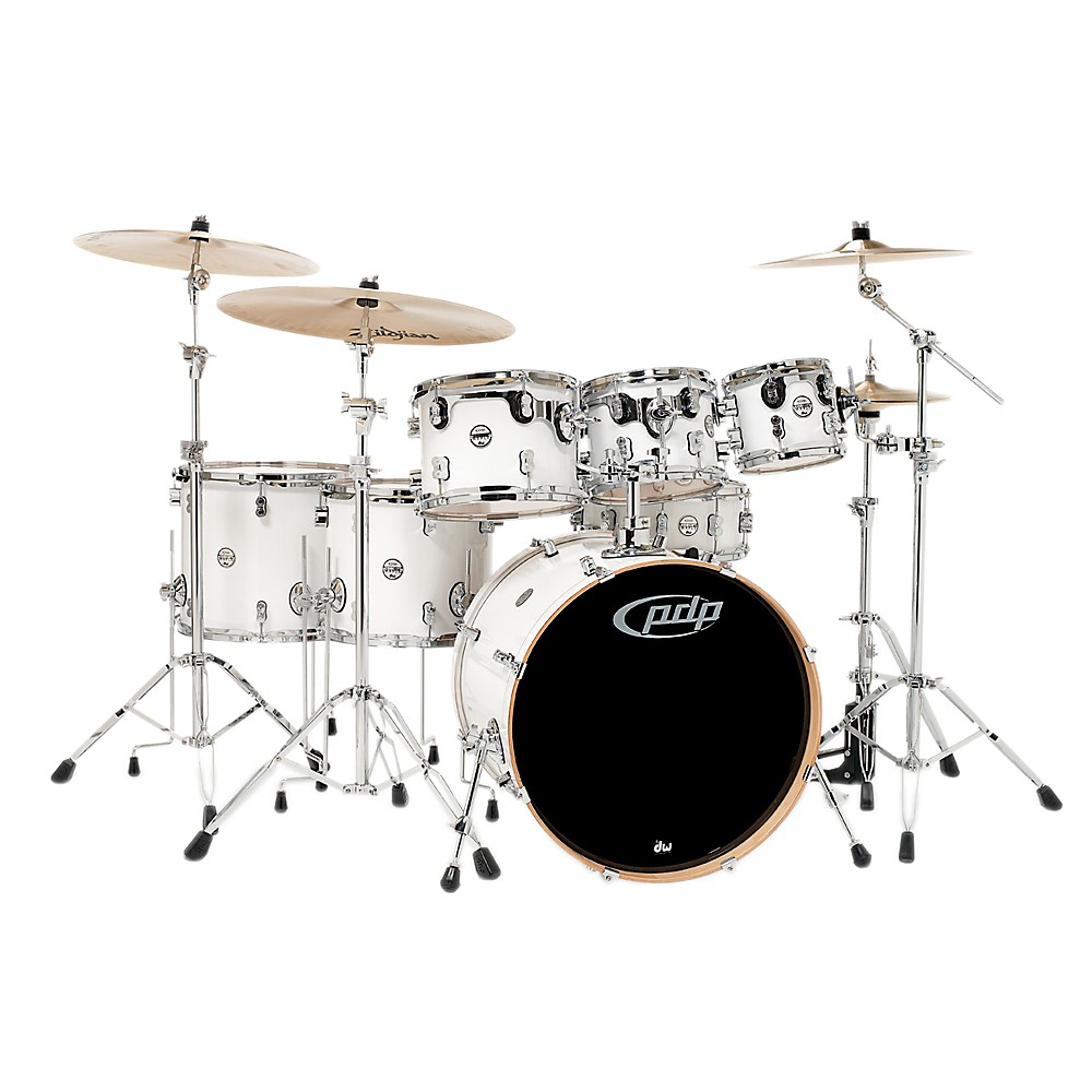 PDP Concept Maple by DW 7-Piece Shell Pack Pearlescent White