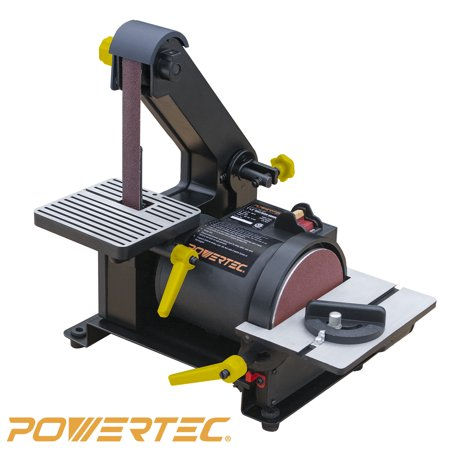POWERTEC BD1500 Woodworking Belt Disc Sander, 1-Inch by