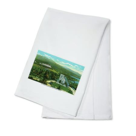 Bretton Woods  New Hampshire   Mt Washington Hotel  Stickney Chapel View  100  Cotton Kitchen Towel