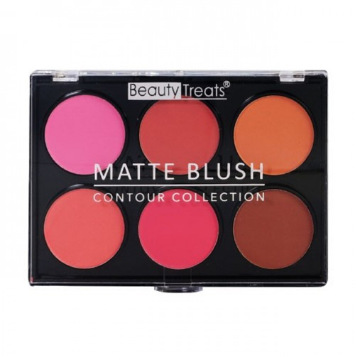 (6 Pack) BEAUTY TREATS Matte Blush - Contour Collection 01
