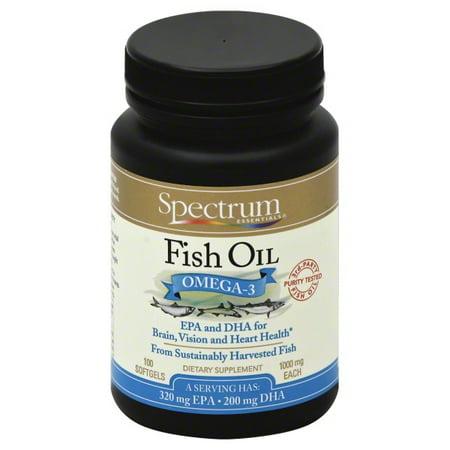Hain Celestial Group Spectrum Essentials Fish Oil, 100