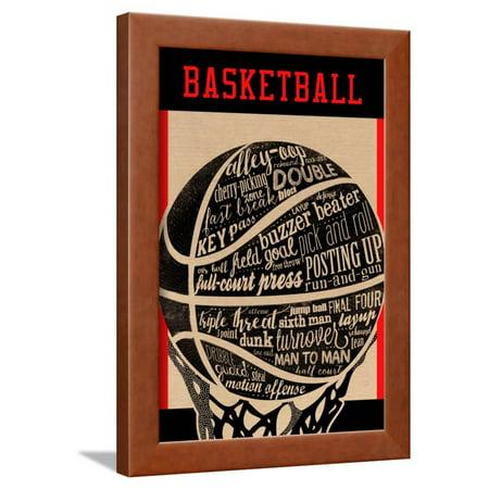 Basketball Framed Print Wall Art By Longfellow Designs