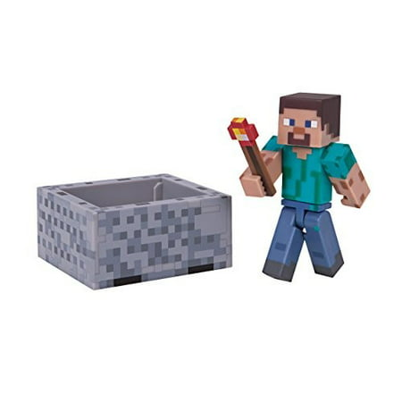 Minecraft Series 3 Wave 1 Steve with Minecraft Pack](Minecraft Steve)