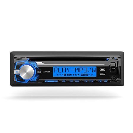 Dual XDM265 Mechless Am Fm Usb Aux 7 Character Lcd 3 Eq Presets Detachable Face