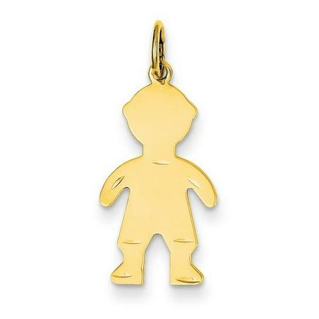 14k Yellow Gold Boy Charm Pendant 14kt Gold Baby Boy Charm