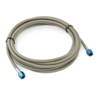 DEI Stainless Steel Braided Hose - 3ft -4AN F and 1/8 NPT M