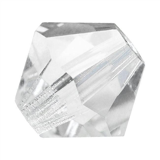 Preciosa Czech Crystal Beads 10mm Bicone Clear 'Crystal' (6)