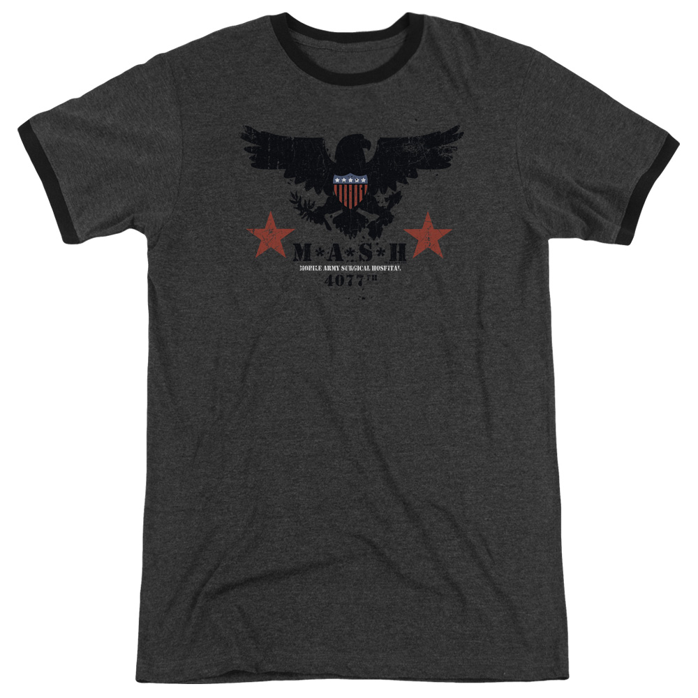 Mash Eagle Mens Adult Heather Ringer Shirt
