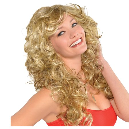 Blonde Bombshell Wig (AMSCAN '70s Bombshell Wig Halloween Costume Accessories, Blonde, One)
