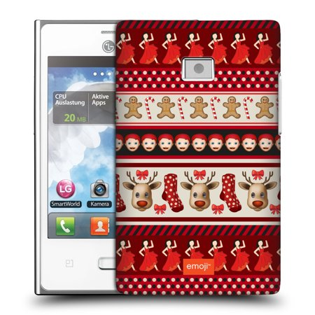 Gingerbread Emoji (OFFICIAL EMOJI CHRISTMAS PATTERNS HARD BACK CASE FOR LG PHONES)