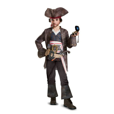 Pirates of the Caribbean 5: Captain Jack Deluxe Child Costume - Pirates Costumes Kids