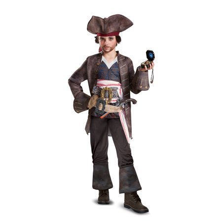 Pirates of the Caribbean 5: Captain Jack Deluxe Child Costume](Jack Sparrow Costume Ideas)