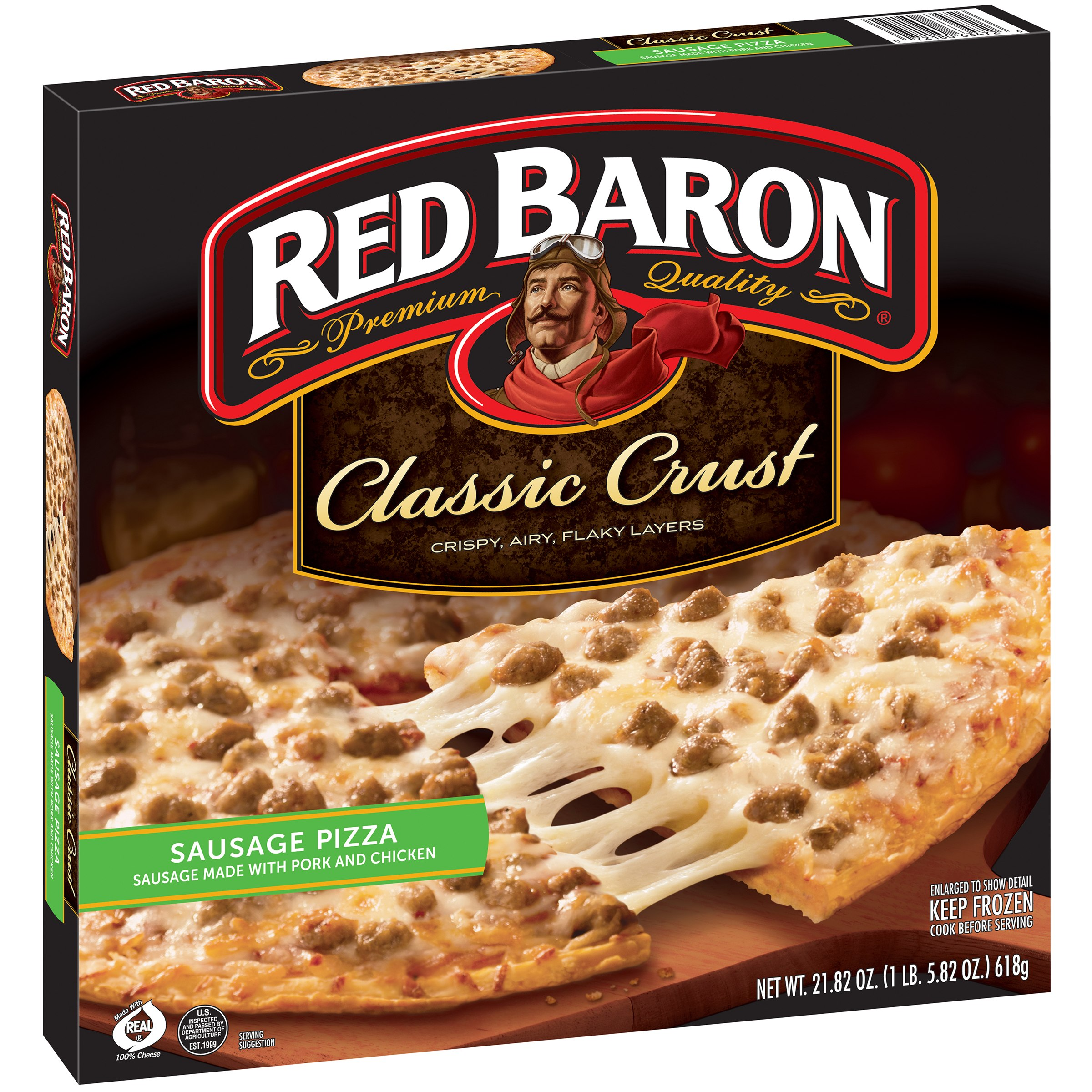 Red Baron® Classic Crust Sausage Pizza 21.82 oz. Box