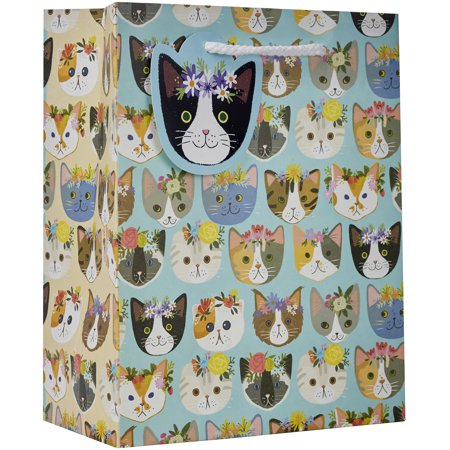 Jillson & Roberts Eco-Friendly Medium Gift Bags, Kitty Cats (30 Pcs)