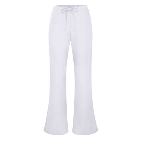 Adar Universal Flare Leg Natural-Rise Drawstring Pants Tall - 507T - White - 2X