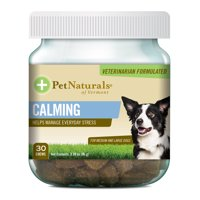 Pet Naturals of Vermont Calming for Medium & Large Dogs, Behavior Support Supplement, 30 Bite-Sized Chews