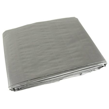 Silver 10x10 Heavy Duty UV Protected Treated Canopy Sun Shade Boat Cover Tarp (10x10 Roof)