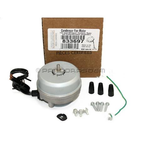 833697 For Whirlpool Refrigerator Condenser Fan Motor