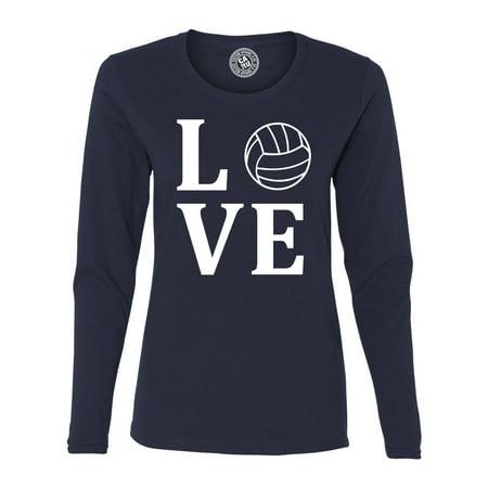 Love Volleyball Sports Jersey Womens Long Sleeve T (Fantastic Long Sleeve Jersey)