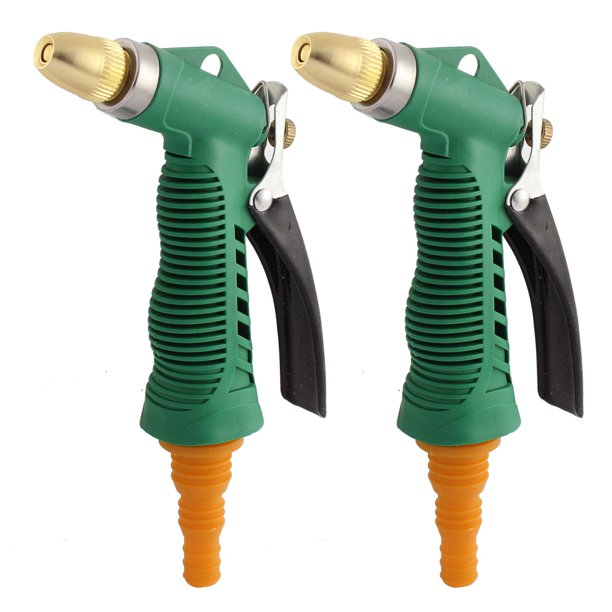 Unique Bargains Car Garden Washing Tool Brass Head Hose Nozzle Connector Water  Sprayer 2 Pcs