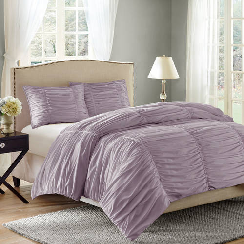 Better Homes and Gardens Ruching 3-Piece Comforter Set ...