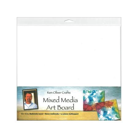 Mix Board - Contact Crafts KOliver Mixed Media Art Board 12x12