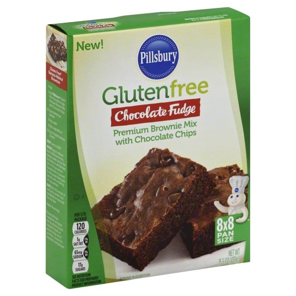 (4 Pack) Pillsbury Gluten Free Chocolate Fudge Brownie Mix, 15.5oz