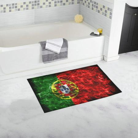 MKHERT Portugal Smoke Flag Doormat Non-slip Bath Mat Floor Mat 30x18