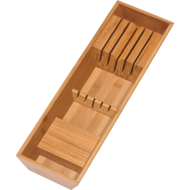 Bamboo In Drawer Knife Block by Lipper