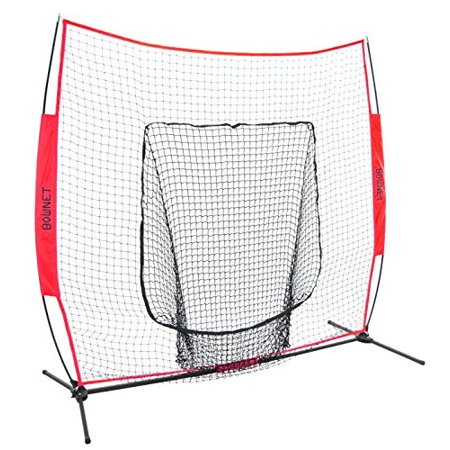 Bownet 7 X 7 Big Mouth Hitting   Pitching Training Frame   Net   Red