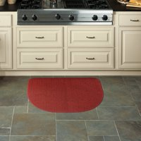 "Mohawk Home Rank & File Slice Kitchen Rug, 18"" x 27"", Red"