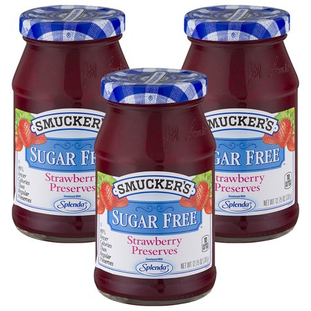 - (3 Pack) Smucker's Strawberry Sugar Free Preserves, 12.75-Ounce