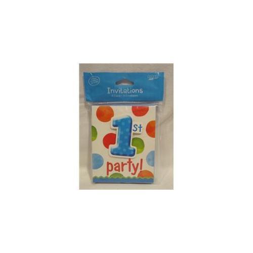 Bulk Buys 1st Party Birthday Invitations -Boy - Case of 24