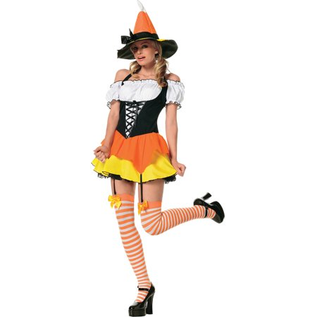 Newborn Candy Corn Costume (Candy Corn Sexy Witch Costume Theme Hallowen Costume 3 Piece)