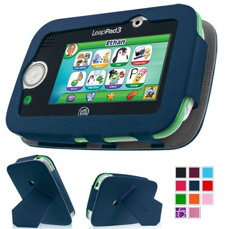 LeapFrog LeapPad3 Kids' Learning 5-Inch Tablet Case - Fintie Premium Vegan Leather Standing Carrying Cover, Navy