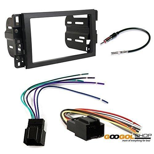 chevrolet 2007 - 2014 tahoe (2014-2014 w/o factory nav) car stereo dash install mounting kit wire harness radio antenna